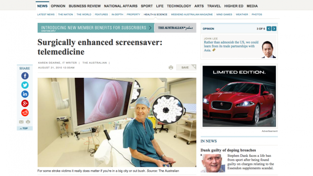 Image of news article